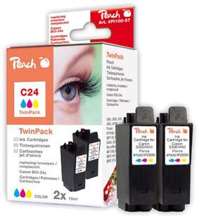 PI100-57 | Peach Canon BCI-24 c - twinpack inkoustová náplň barevná (color)