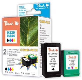 PI300-140 | Peach HP C8767E, No 339 + HP C9363E, No 344 - HighCapacity 1x černá + 1x barevná