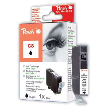 PI100-65 | Peach Canon CLI-8BK (CLI8BK, CLI 8 BK, C8BK) černá (black)