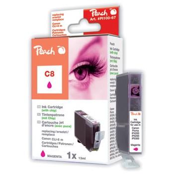 PI100-67 | Peach Canon CLI-8M (CLI8M, CLI 8 M, C8M) purpurová/červená (magenta)