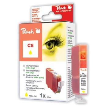 PI100-68 | Peach Canon CLI-8Y (CLI8Y, CLI 8 Y, C8Y) žlutá (yellow)