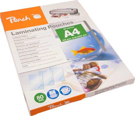 Peach PEACH Laminovací fólie A4 (216x303mm), 80mic, PP580-02, 100pck/BAL - 510361