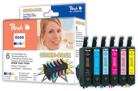 PI200-84 | sada ink. náplní Peach kompatibilních s Epson T0487 (Combi Pack)