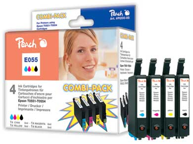 PI200-85 | sada Combi Pack ink. náplní Peach kompatibilních s Epson T0556 (T0551, T0552, T0553, T0554)
