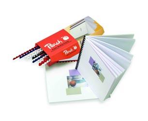 PB408-04 | Vázací hřbet Peach 8mm, 45 listů A4, modrá - 100ks