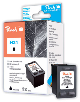 PI300-144 | Peach HP 21 (C9351AE) black kompatibilní