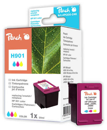PI300-248 | Peach HP 901 (CC656AE) inkoustová náplň barevná (color)