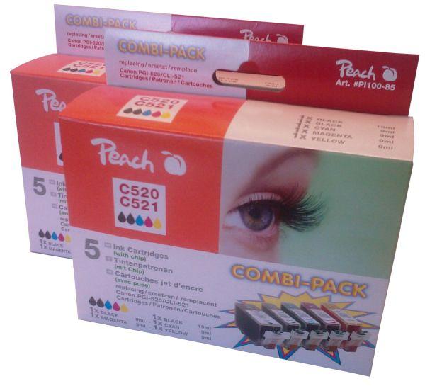 PI100-85 | 2x Sada Peach Canon CLI-521 PGI-520