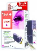 PI100-130 | Peach Canon CLI-526 m (CLI526, CLI 526, C526) purpurová (červená, růžová, magenta) s čipem (chip)