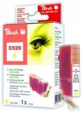 PI100-131 | Peach Canon CLI-526 y (CLI526, CLI 526, C526) žlutá (yellow) s čipem (chip)