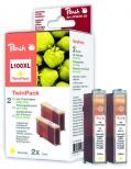 PI400-33 | Peach Lexmark No 100 XL, žlutá (yellow), s čipem, twinpack (2ks),14N1095