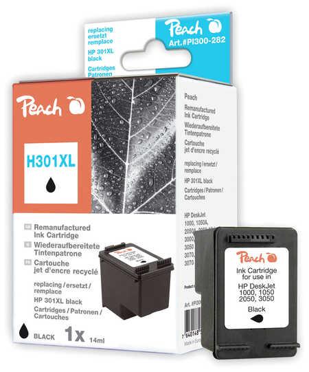 PI300-282 | Peach HP 301 XL, CH563EE - inkoustová náplň černá (black), REM, OEM