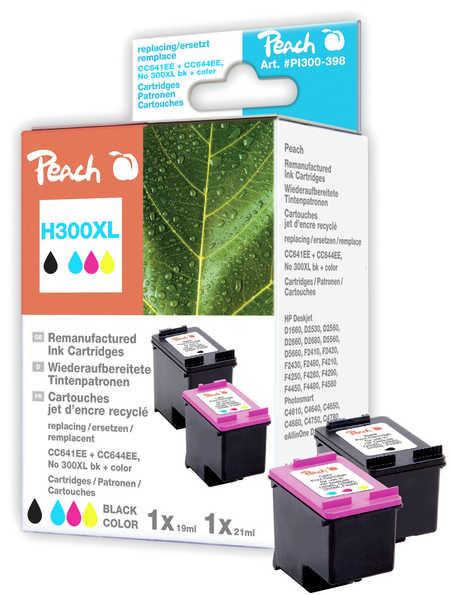 PI300-398 | Peach sada combipack HP 300 XL černá + barevná, kompatibilní