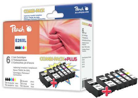 PI200-249 | Peach Sada inkoustových náplní Epson No.26XL, kompatibilní s T2616 a T2636 (2x T2621)