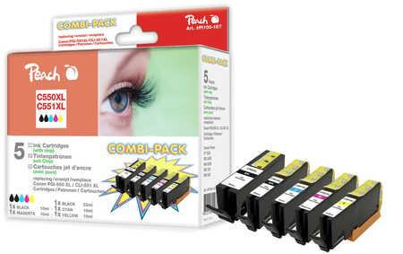 PI100-167 | Peach Combi Pack PGI-550XL, CLI-551XL