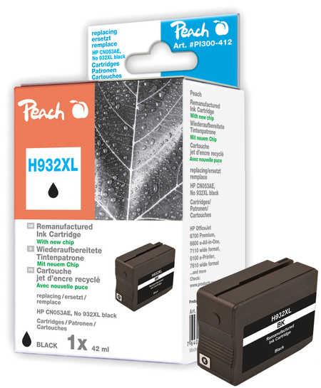 PI300-412 | Peach Inkoustová náplň HP No 932XL černá (black), kompatibilní s CN053AE