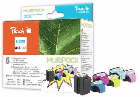 PI300-507 | Peach Combi Pack komp. s HP Photosmart 363 barevná inkoustová náplň (colors)