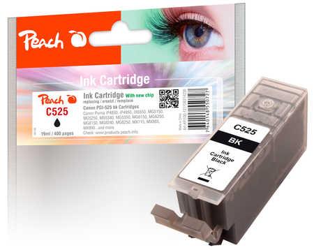 PI100-127 | 2x Peach Canon PGI-525 bk (PGI525, PGI 525, C525) černá (black) s čipem (chip)