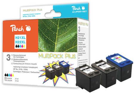 PI300-557 | Peach Sada CombiPlus inkoustových náplní kompatibilních s HP 21XL a HP 22XL