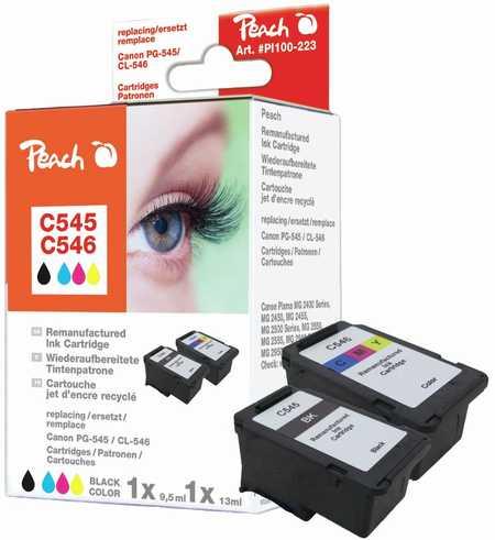 PI100-223 | Sada Peach CombiXL, kompatibilní s Canon PG-545 / CL-546