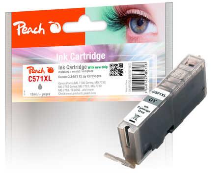 PI100-289 | Peach Canon CLI-571XL, šedá (grey), s čipem