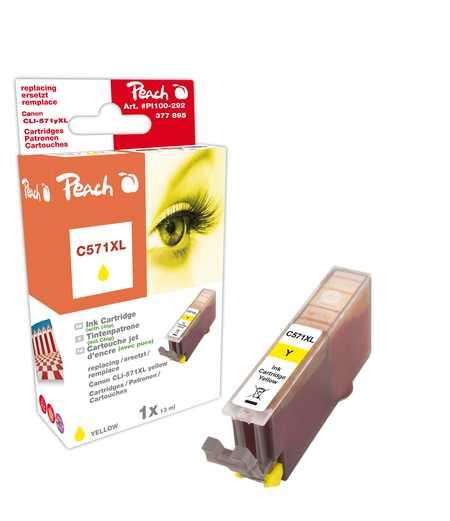PI100-292 | Peach Canon CLI-571XL, žlutá (yellow), s čipem