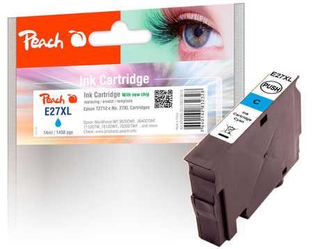 PI200-351 | Peach Kompatibilní náplň EPSON č 27XL T2712 (C13T27124010) azurová (cyan)
