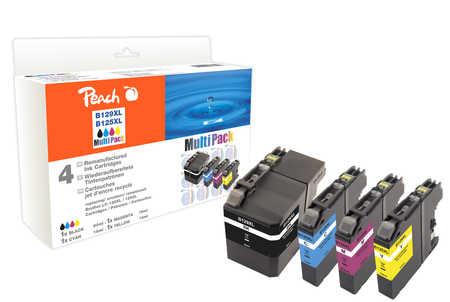 PI500-167 | Sada Peach MultiPack, kompatibilní s Brother LC-129XL / LC-125XL