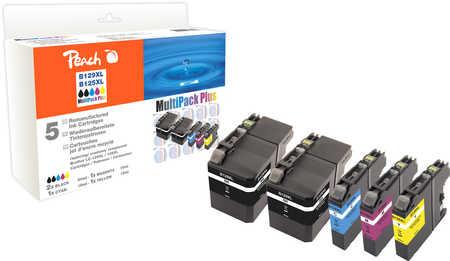 PI500-168 | Sada Peach MultiPack Plus, kompatibilní s Brother LC-129XL / LC-125XL - 2 x černá