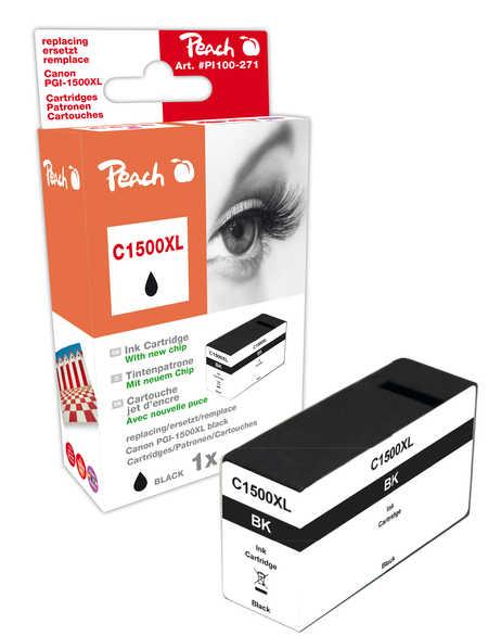 PI100-271 | Peach Canon MAXIFY PGI-1500XLBK, černá s čipem
