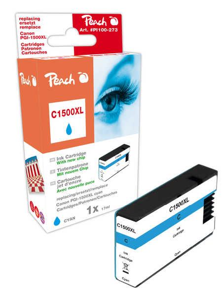 PI100-273 | Peach Canon MAXIFY PGI-1500XLC, azurová (cyan) s čipem