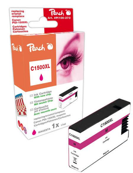PI100-274 | Peach Canon MAXIFY PGI-1500XLM, purpurová (magenta) s čipem