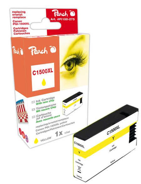 PI100-275 | Peach Canon MAXIFY PGI-1500XLY, žlutá (yellow) s čipem