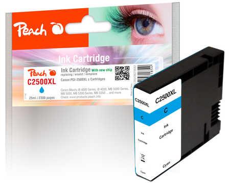 PI100-280 | Peach Canon MAXIFY PGI-2500XLC, azurová (cyan) s čipem