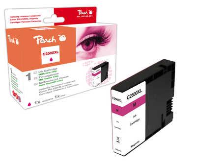 PI100-281 | Peach Canon MAXIFY PGI-2500XLM, purpurová (magenta) s čipem