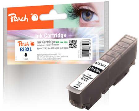 PI200-417 | Peach Inkoustová náplň, kompatibilní s Epson č 33XL - T3361 - foto černá
