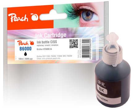 PI500-180 | Peach Lahvička s inkoustem, černá (black), pigment pro Brother CISS BT6000