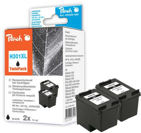 PI300-485 | Peach Sada Twinpack HP 301 XL, CH563EE - inkoustová náplň černá (black), REM, OEM - 2 ks