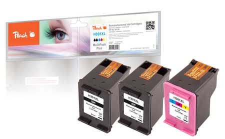 PI300-564 | Peach sada Multipack Plus ink náplní kompatibilních s HP 301 XL - 2x černá + 1x barevná, REM, OEM