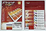 R0232.0614NC | RayFilm Matné vizitky pro ink tisk s perf okrajem, 90 x 50 mm / 20 A4 / 200 vizitek