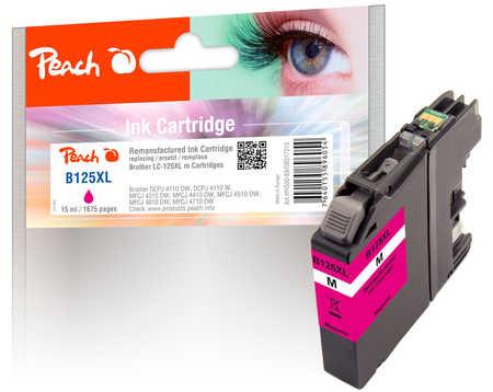 PI500-89 | Peach Inkoustová náplň kompatibilní s Brother LC-125XL purpurová (magenta)