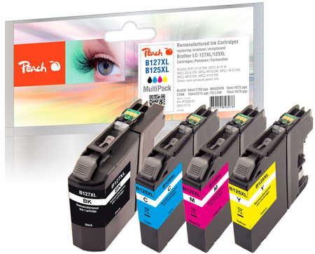 PI500-91 | Sada Peach MultiPack, kompatibilní s Brother LC-125XL / LC-127XL