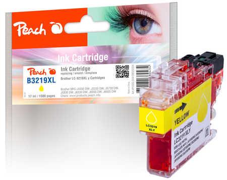 PI500-244 | Peach inkoustová náplň kompatibilní s Brother LC-3219 XL Y, žlutá s čipem