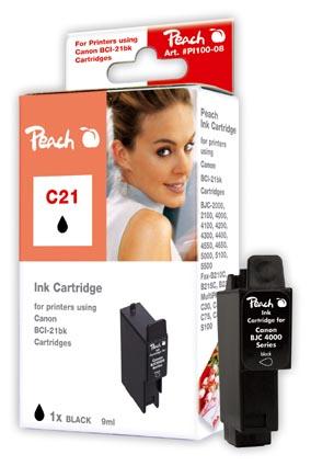 PI100-08   Peach Kompatibilní cartridge Canon BCI-21Bk černá