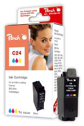 PI100-23 | Peach Canon BCI-24 c inkoustová náplň barevná (color)