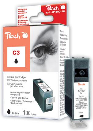 PI100-10 | Peach Canon BCI-3e BK (BCI3eBK, BCI-3eBK, C3, C3BK) černá (black)