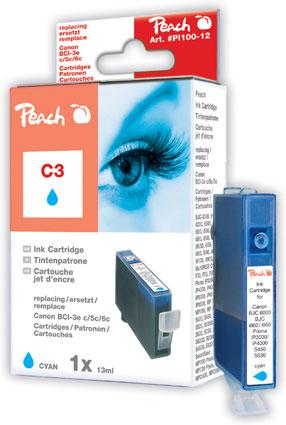 PI100-12 | Peach CANON Canon BCI6R modrá náplň pro i9950, i990