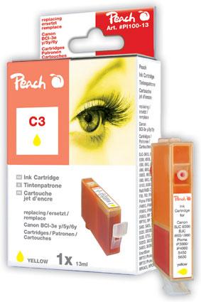PI100-13 | Peach CANON Canon BCI6R žlutá náplň pro i9950, i990