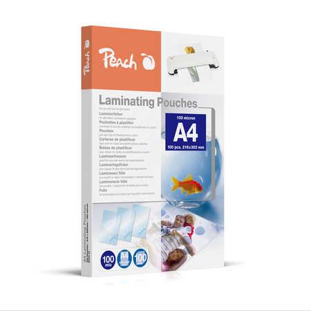 PP500-02 | Peach Laminovací kapsy A4 (216x303mm) - 100 μm (50/50)