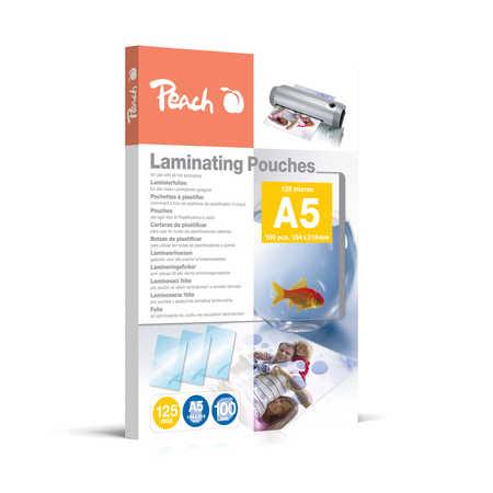 PP525-03 | Peach Laminovací kapsy A5 (154x216mm) - 125 μm (50/75)